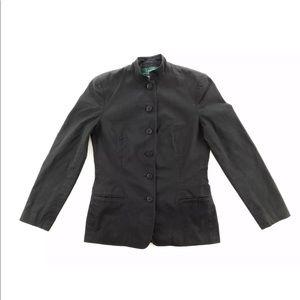 Ralph Lauren 6 Button Blazer Jacket Black Lined 4